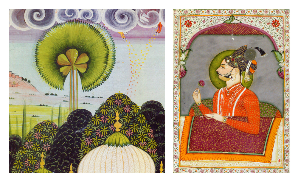 """Indian miniatures from """"Garden & Cosmos: The Royal Paintings of Jodhpur, by Debra Diamond, Thames & Hudson, 2008"""