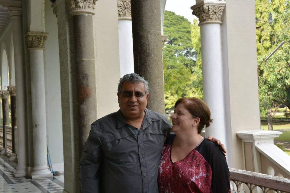 Author Bethany Hegedus and husband in India