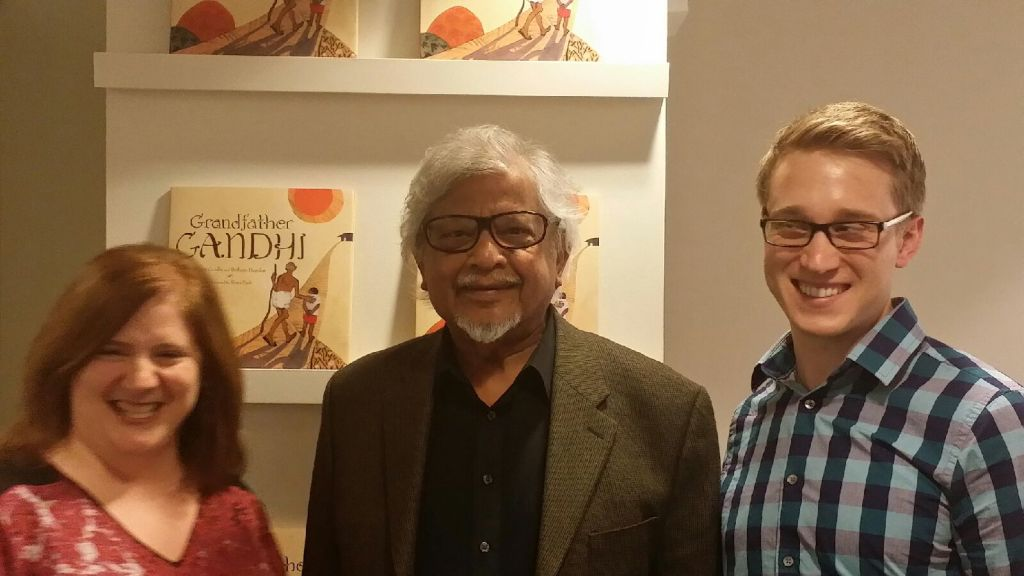 Authors Bethany Hegedus and Arun Gandhi and Illustrator Evan Turk