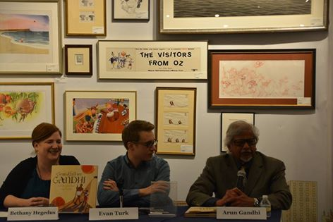 Author Bethany Hegedus, Illustrator Evan Turk, Author Arun Gandhi
